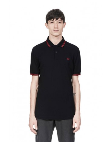 Fred Perry black polo shirt short sleeve