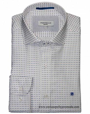 Pertegaz camisa vestir blanca dibujo