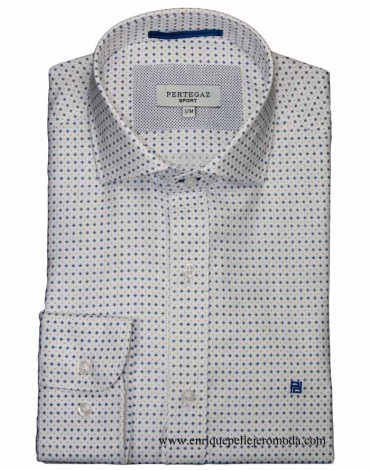 Pertegaz shirt dress white drawing