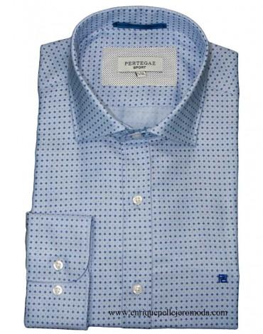 Pertegaz blue dress shirt drawing