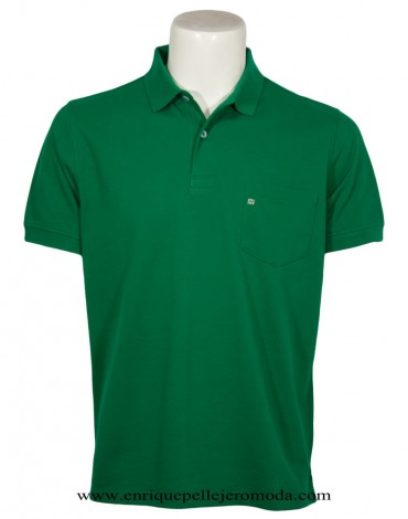 Pertegaz polo verde manga corta