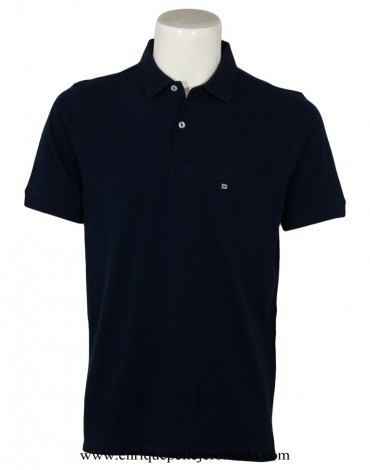 Pertegaz polo shirt navy blue short sleeve