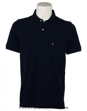 Pertegaz polo shirt navy blue short sleeve