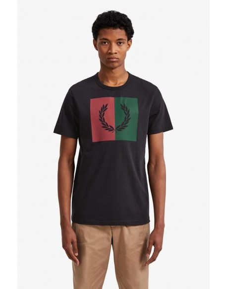 Fred Perry navy blue t-shirt with laurel wreath