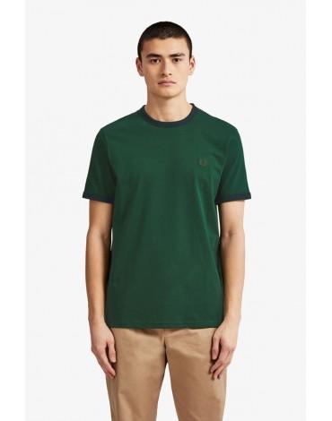 Fred Perry camiseta verde Ringer