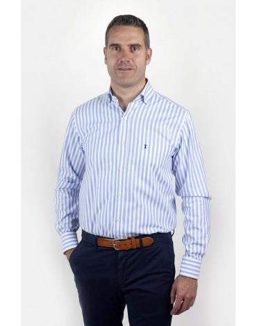 Camisa rayas celeste Enrique Pellejero