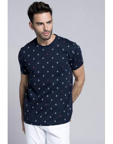 Valecuatro camiseta logos azul marino