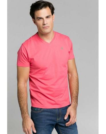 Valecuatro camiseta básica coral