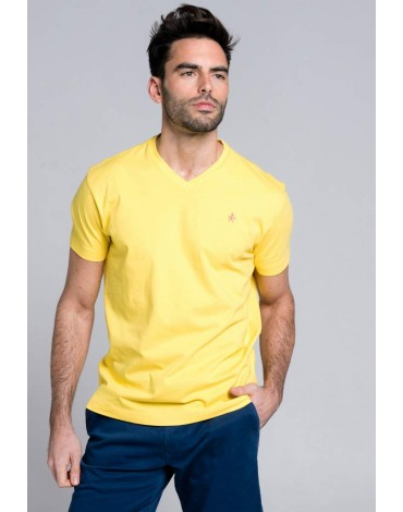Valecuatro yellow basic t-shirt