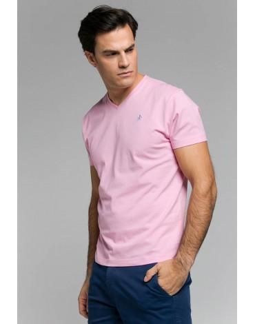Valecuatro camiseta básica rosa