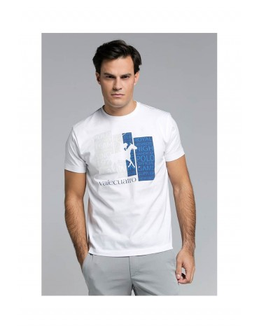 Valecuatro white royal t-shirt