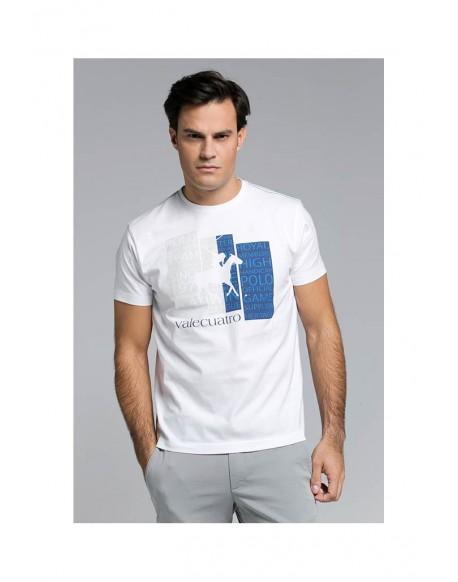 Valecuatro camiseta royal blanca