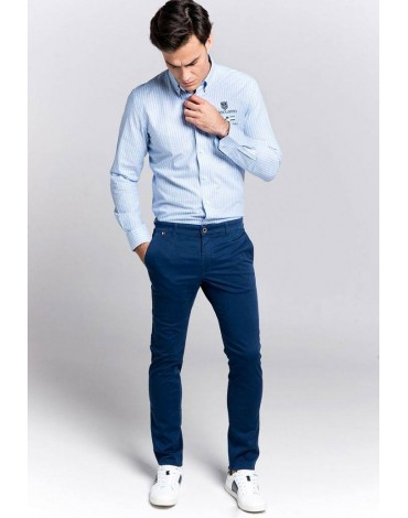 alecuatro navy blue chinos