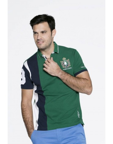 Valecuatro green sports polo shirt