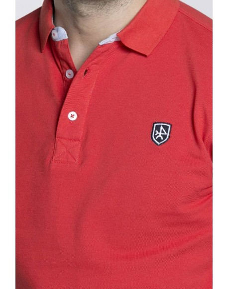 Valecuatro basic polo shirt red man