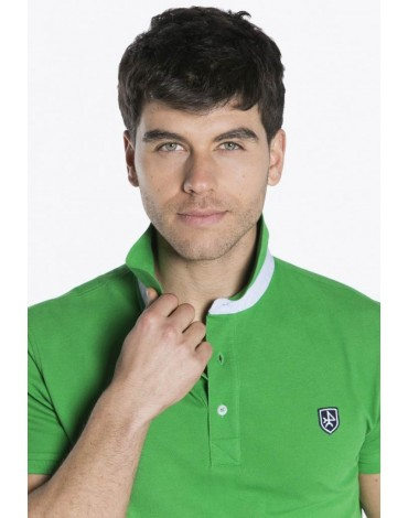 Valecuatro polo básico verde hombre