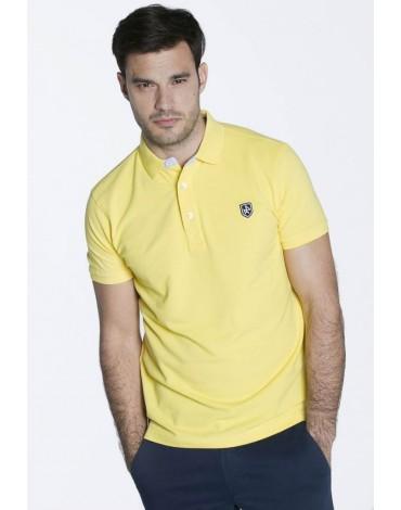Valecuatro polo básico amarillo hombre