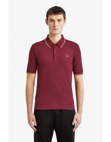 Fred Perry polo shirt Miles Kane eggplant