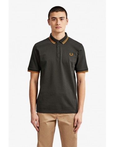 Fred Perry anthracite gray polo shirt Manufactured in Japan