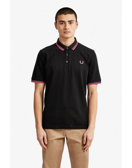 Fred Perry black polo shirt made in Japan