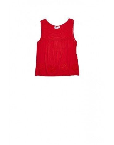 MdM red sleeveless shirt