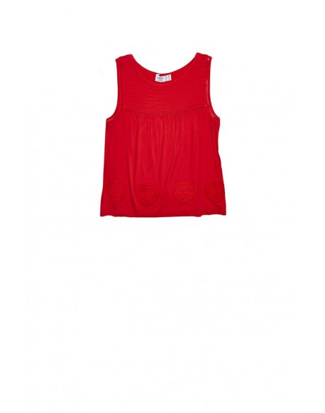 MdM red sleeveless shirt
