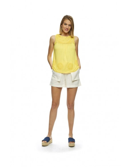 MdM yellow sleeveless shirt