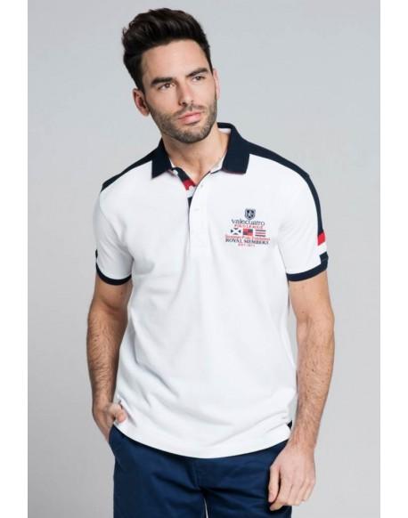 Valecuatro polo shirt Royal white