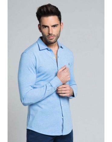 Valecuatro pique blue shirt