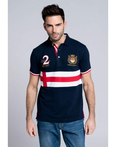 Valecuatro polo shirt cross navy blue