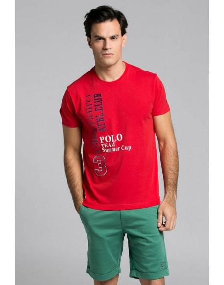 Valecuatro red tshirt Polo Team