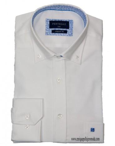 Pertegaz white sport shirt