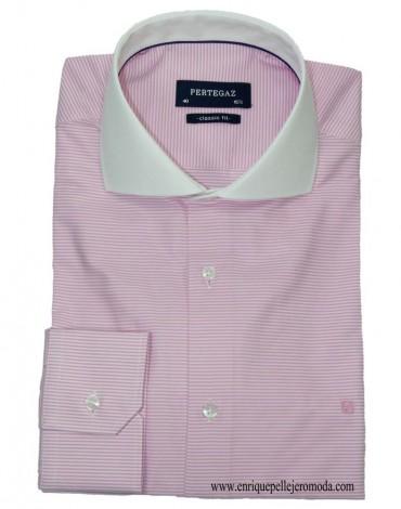 Pertegaz camisa rayas rosa