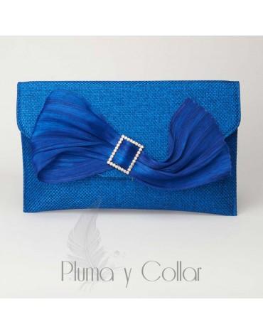 Cartera azul yute