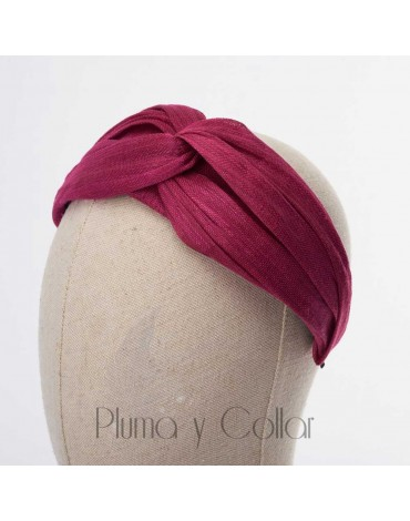 Fuchsia turban headdress