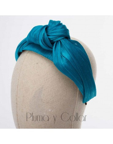 Tocado verde turbante