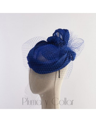 Blue plumeti headdress
