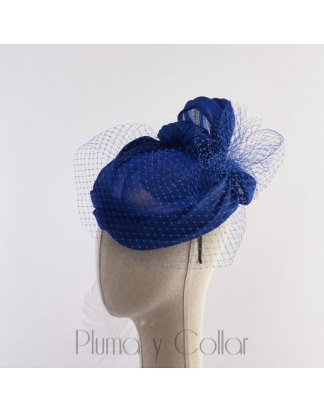 Blue plumeti headdress