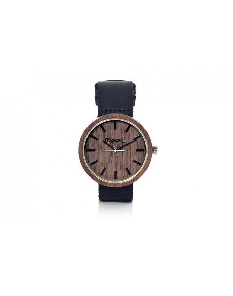 Root walnut wood watch