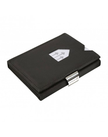 Exentri nubuck black wallet