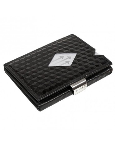 Exentri black leather wallet cubes