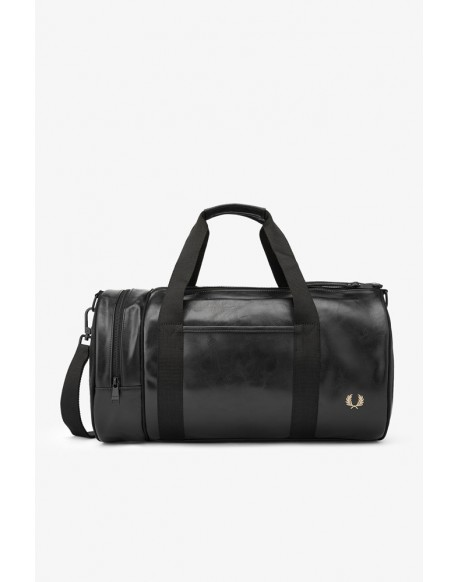 Fred Perry black barrel bag