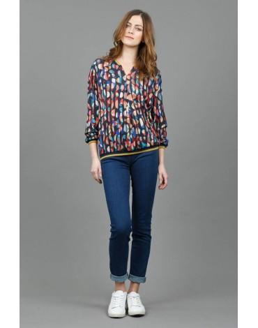 Hongo lurex print sweater