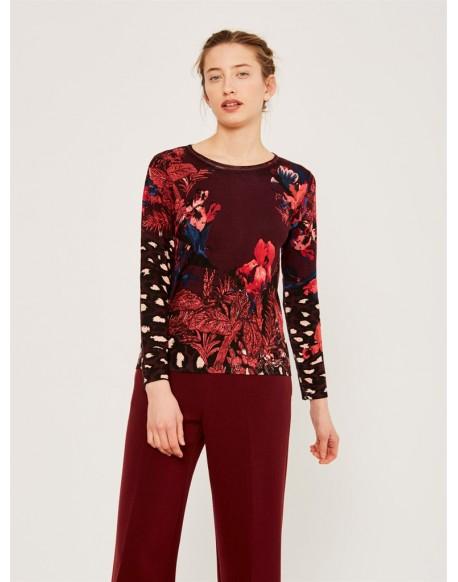 Escorpion floral print sweater