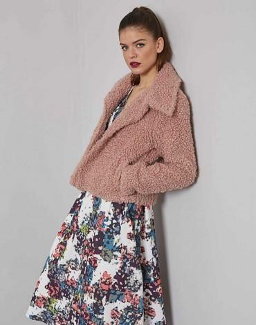 MdM chaqueta pelo rosa