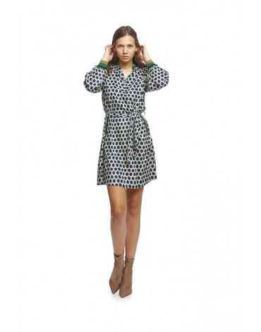 MdM print polo shirt dress