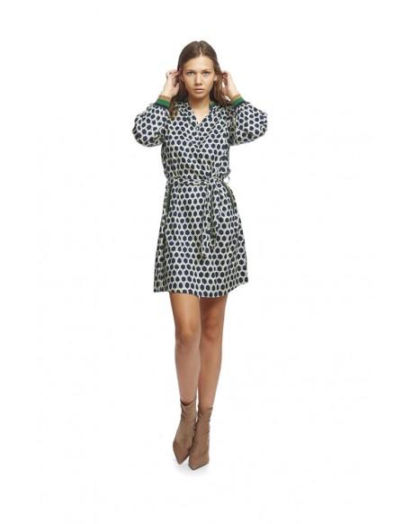 MdM print polo shirt dress