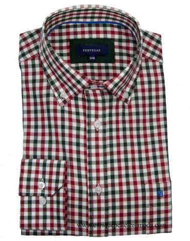 Pertegaz camisa sport cuadro rojo