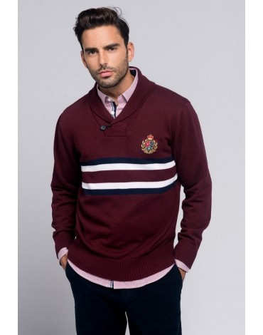 Valecuatro Chester sweater burgundy