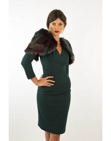 Margarita Muñoz vestido verde